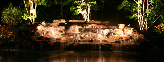 Pond Lights Landscape