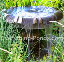 water features in the garden